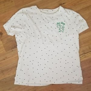 Polka Dot High-Low Tee